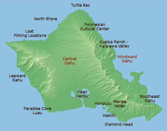 Disney Hawaii Island Map