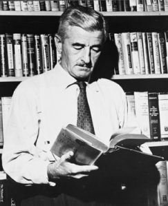 William Faulkner reading a book