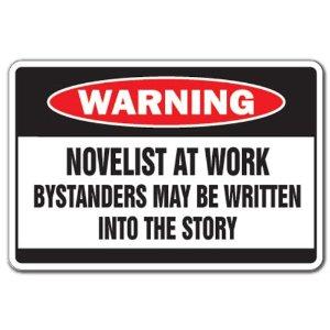 Novelist sign